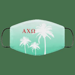 Alpha Chi Omega Palm Trees Face Mask