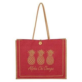 Alpha Chi Omega Paradise Jute Bag