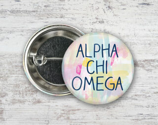 Alpha Chi Omega Pastel Strokes Button