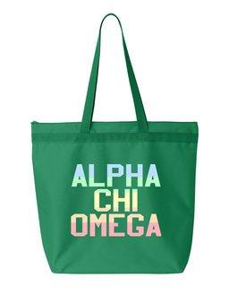 Alpha Chi Omega Pastel Tote Bag