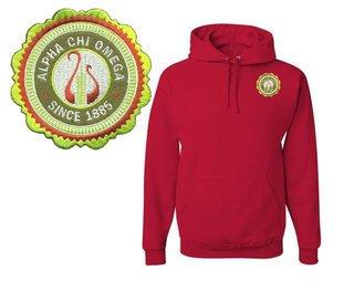 Alpha Chi Omega Patch Seal Hooded Sweatshirt