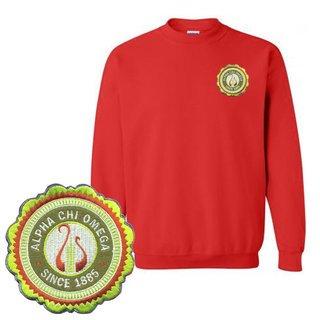 Alpha Chi Omega Patch Seal Sweatshirt