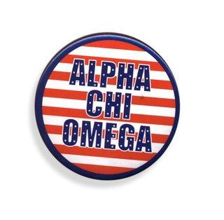 Alpha Chi Omega Patriotic USA Button