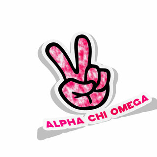 Alpha Chi Omega Peace Hands Decal Sticker