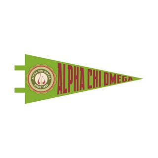 """Alpha Chi Omega Pennant Decal 4"""" Wide"""