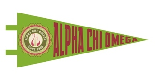 Alpha Chi Omega Pennant Decal Sticker