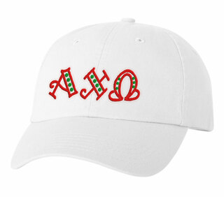 Alpha Chi Omega Peppermint Polkadots Sorority Line Hat