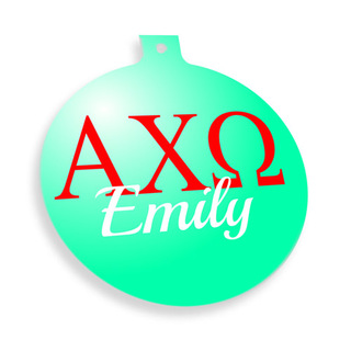 Alpha Chi Omega Personalized Christmas Ornaments