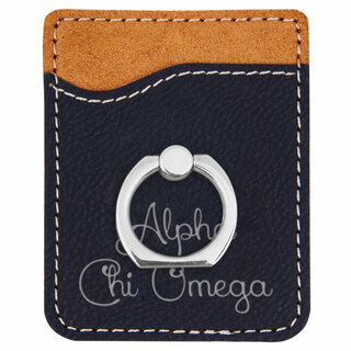 Alpha Chi Omega Phone Wallet with Ring