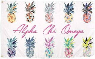 Alpha Chi Omega Pineapple Flag