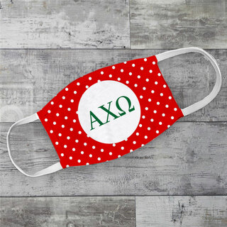 Alpha Chi Omega Polka Dots Face Mask