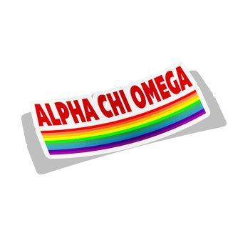 Alpha Chi Omega Prism Decal Sticker