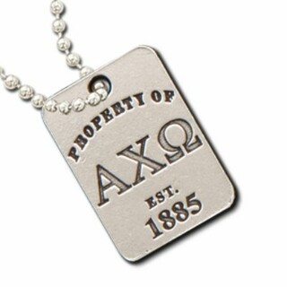 Alpha Chi Omega Property Of Tag