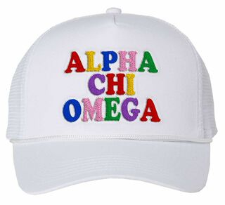 Alpha Chi Omega Rainbow Trucker Hat