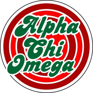 Alpha Chi Omega Retro Round Decals