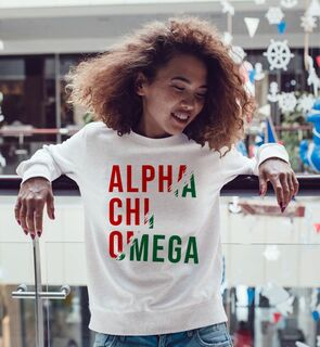 Alpha Chi Omega Ripped Favorite Crewneck