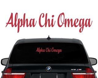 Alpha Chi Omega Script Decal