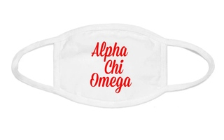 Alpha Chi Omega Script Face Mask