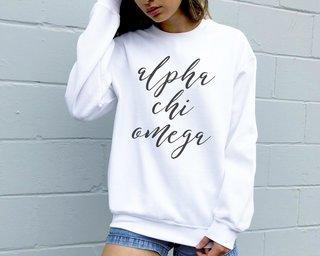 Alpha Chi Omega Script Sweatshirt