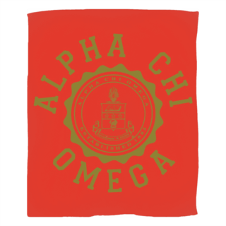 Alpha Chi Omega Seal Fleece Blanket