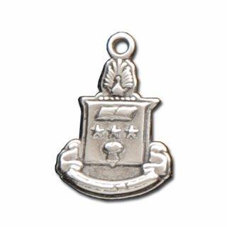 Alpha Chi Omega Silver Crest - Shield Charm