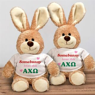 Alpha Chi Omega Somebunny Loves Me Stuffed Bunny