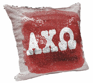 Alpha Chi Omega Sorority Flip Sequin Throw Pillow Cover