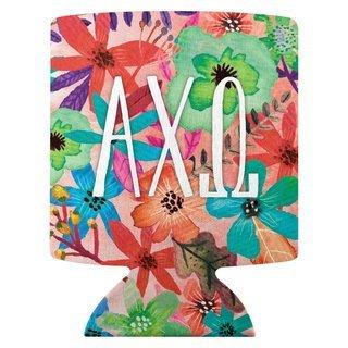 Alpha Chi Omega Sorority Floral Can Cooler