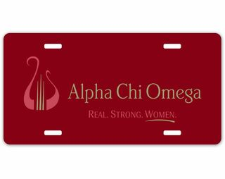 Alpha Chi Omega Sorority Logo License Cover