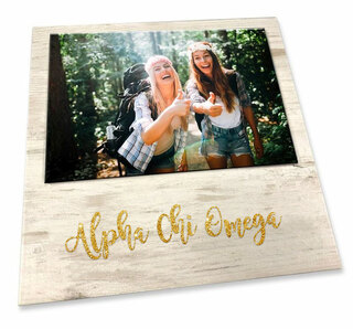 Alpha Chi Omega Sorority Golden Block Frame
