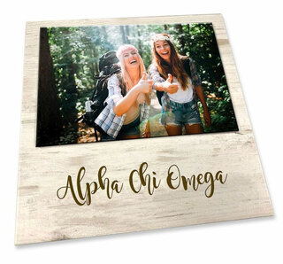 Alpha Chi Omega Sorority Script Block Frame