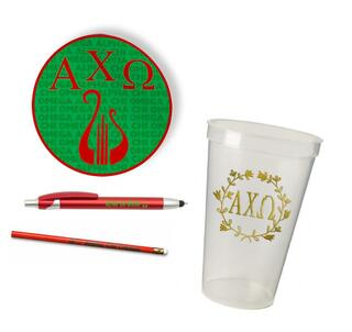 Alpha Chi Omega Sorority Mascot Set $8.99