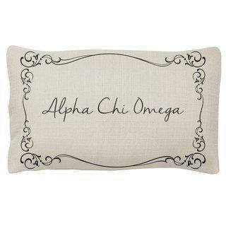 Alpha Chi Omega Sorority Lumbar Pillows