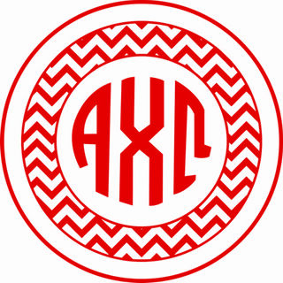 Alpha Chi Omega Sorority Monogram Bumper Sticker