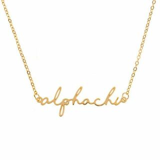 Alpha Chi Omega Sorority Script Necklace