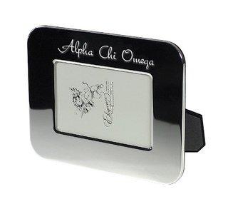 Alpha Chi Omega Sorority Silver Script Frame