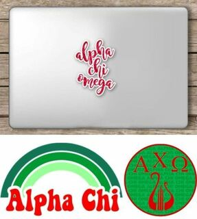 Alpha Chi Omega Sorority Sticker Collection - SAVE!