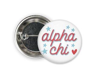 Alpha Chi Omega Star Button