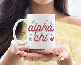Alpha Chi Omega Star Mug