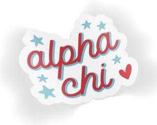 Alpha Chi Omega Star Sticker