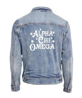 Alpha Chi Omega Star Struck Denim Jacket
