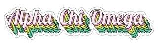 Alpha Chi Omega Step Decal Sticker