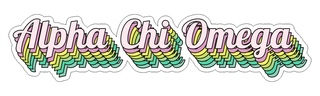 Alpha Chi Omega Step Decal Sticker