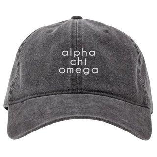 Alpha Chi Omega Stonewashed Cotton Hats