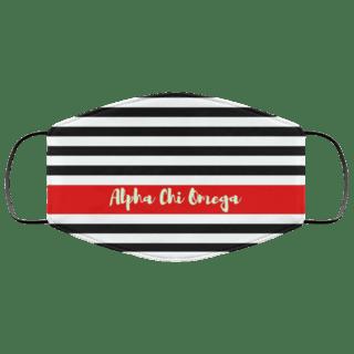 Alpha Chi Omega Stripes Face Mask