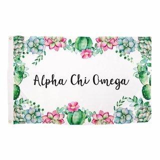 Alpha Chi Omega Succulent Flag