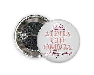 Alpha Chi Omega Sun Button
