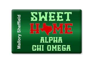 Alpha Chi Omega Sweet Home Ceramic Magnet