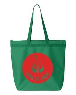 Alpha Chi Omega Symbol Circle Mascot Tote Bag