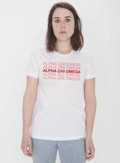Alpha Chi Omega Thank You For Shopping Tee - Comfort Colors